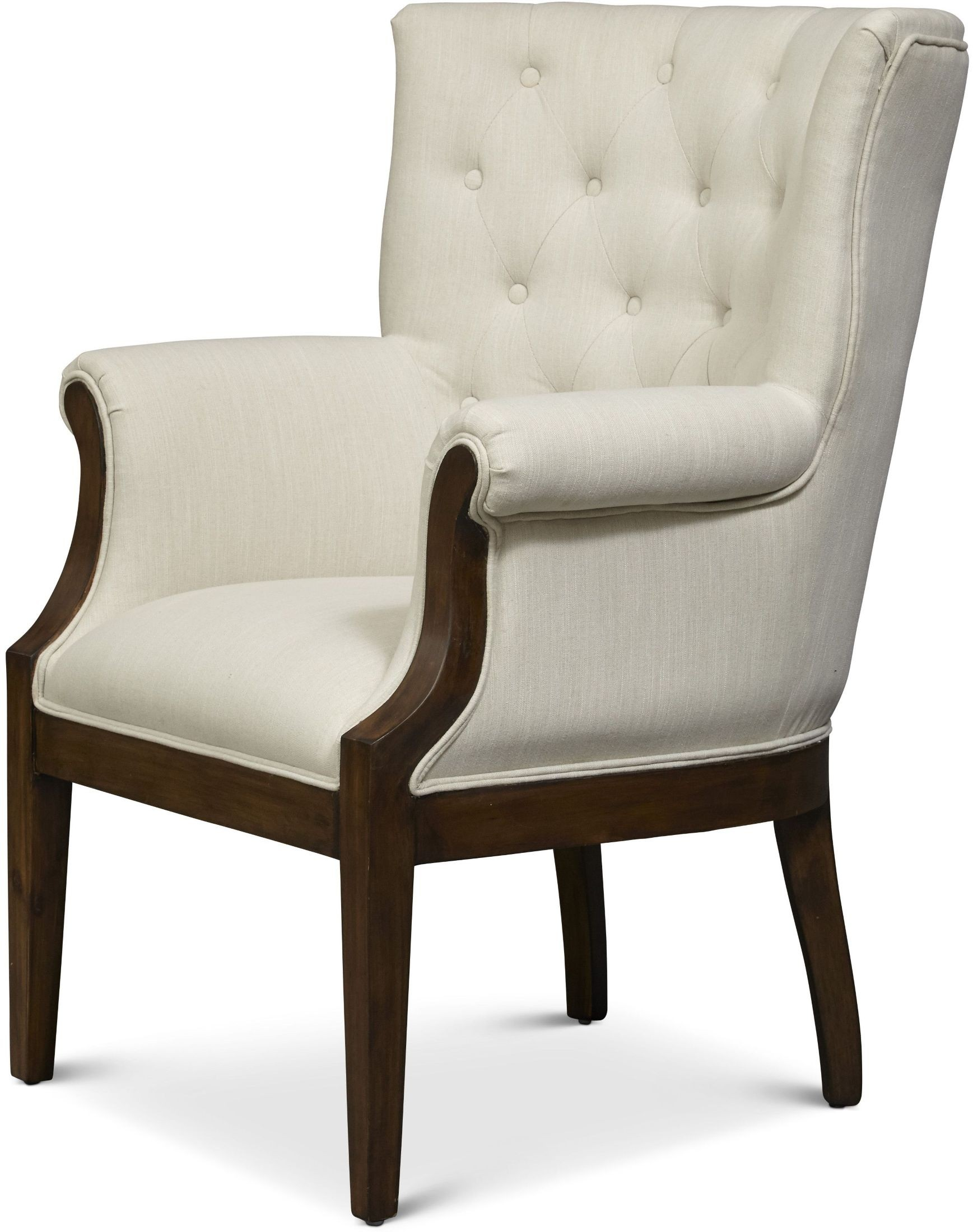 Paxton Walnut Cream Accent Chair from Jofran  Coleman