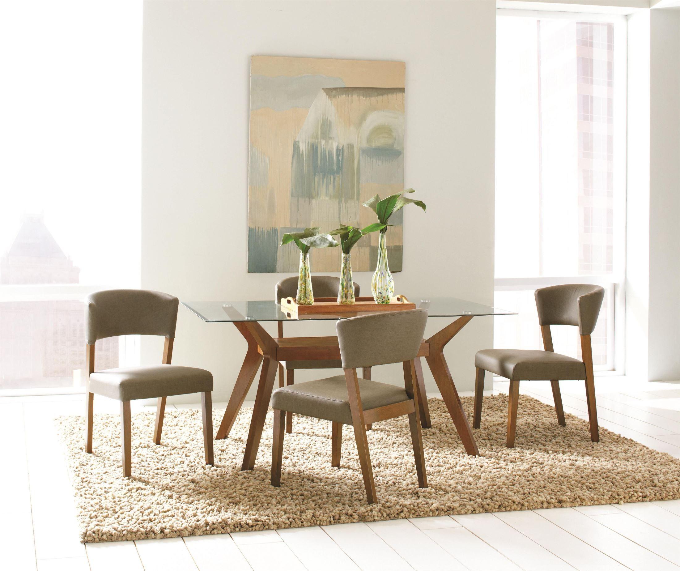 Paxton Rectangular Glass Dining Room Set 122171CB60RT Coaster