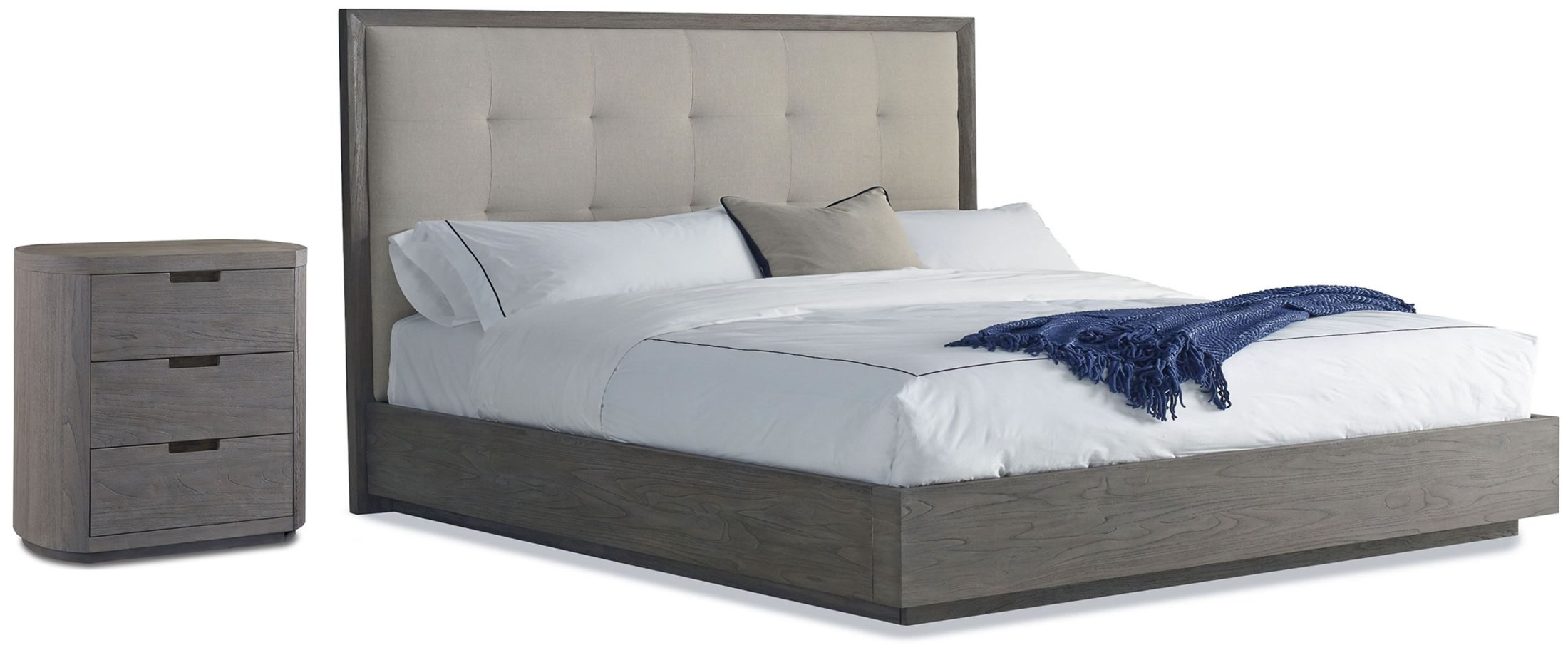 Palmer Cal King Upholstered Platform Bed From Brownstone
