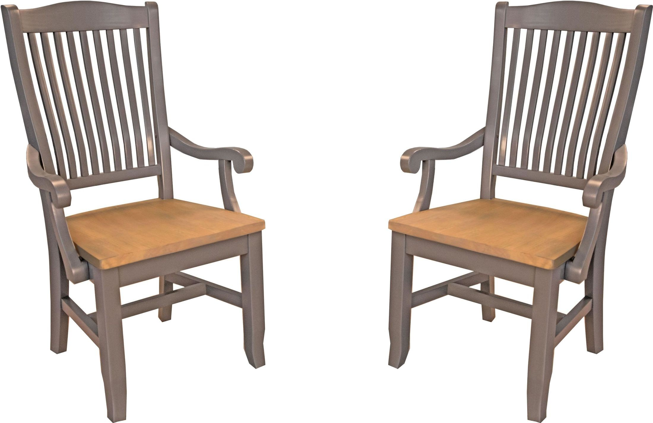 wooden slat chairs mid century modern dining port townsend grey and seaside pine wood back arm