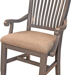 Grey Upholstered Chair Best Dorm Lounge Chairs Port Townsend Slat Back Arm Set Of