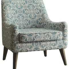 Blue And White Accent Chair Queen Ann Chairs Fabric From Coaster 902479