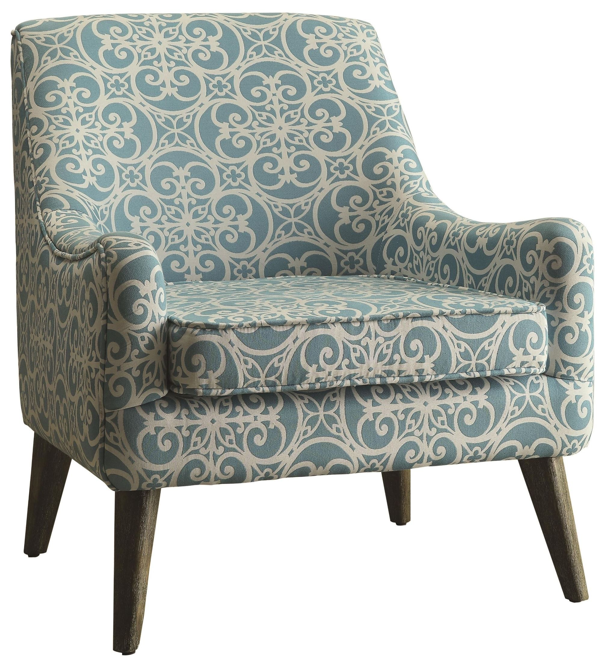 Blue And White Chair Blue And White Fabric Accent Chair From Coaster 902479