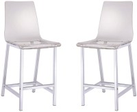 """29"""" Clear Bar Stool Set of 2 from Coaster (100265 ..."""