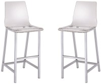 Clear Bar Stool Set of 2 from Coaster (100295) | Coleman ...