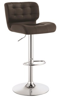 Brown Adjustable Bar Stool Set of 2 from Coaster (100544 ...