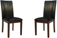 Parson Black Curved Back Dining Chair Set of 2, PRSES221K
