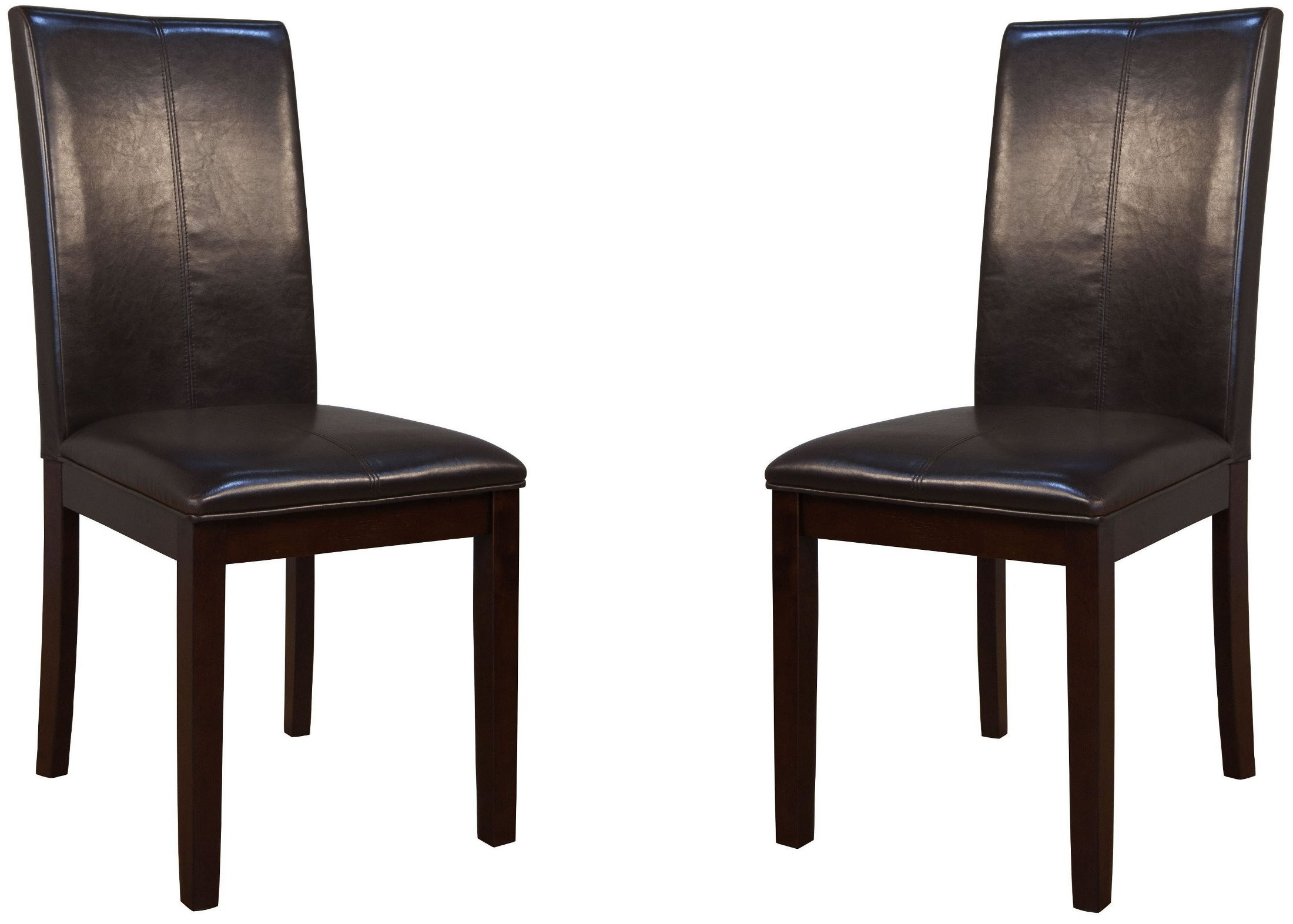 Curved Back Chair Parson Brown Curved Back Chair Set Of 2
