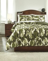 Dagon Camouflage Full Comforter Set from Ashley | Coleman ...