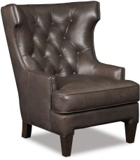 Britten Gray Leather Club Chair from Hooker | Coleman ...