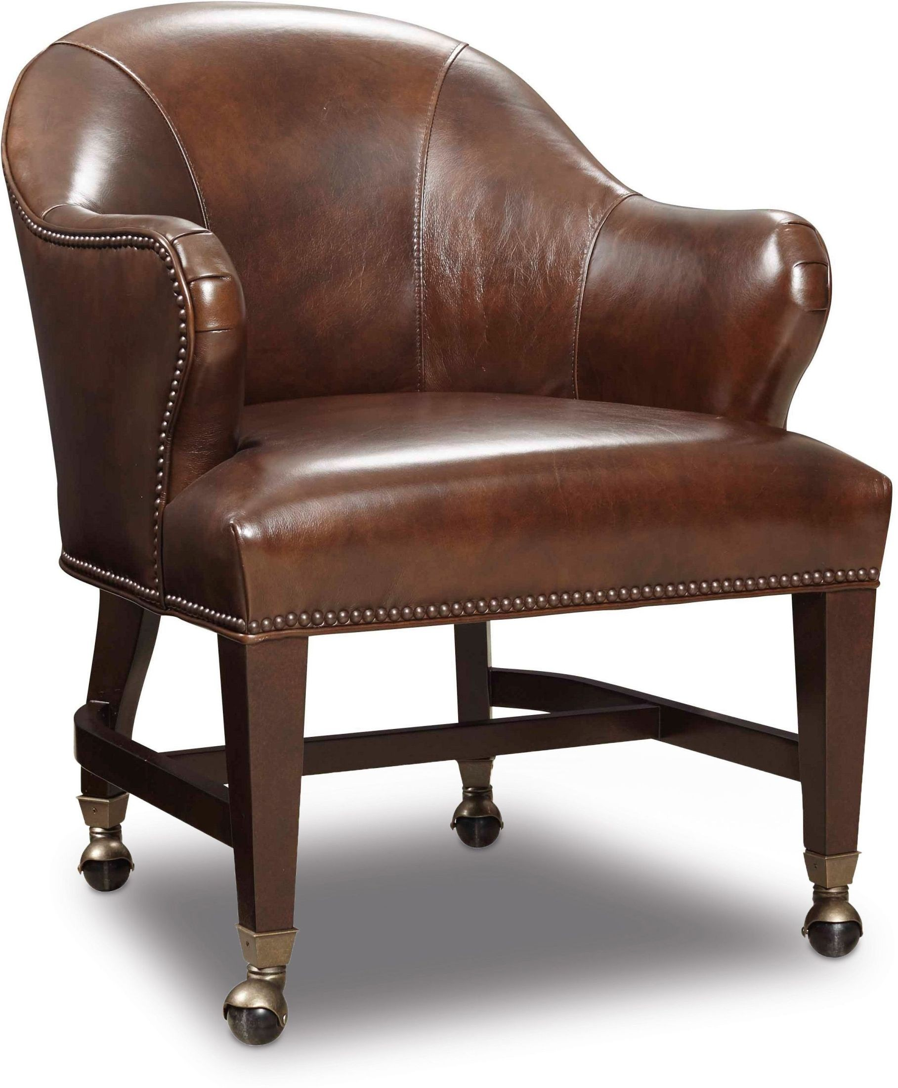 Queen Chairs Queen Brown Leather Game Chair From Hooker Coleman Furniture