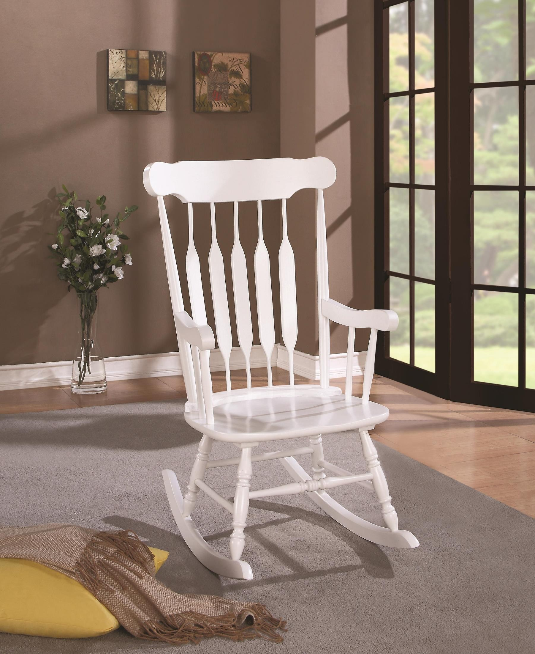 coleman rocking chair kids table and chairs diy 600174 wooden from coaster