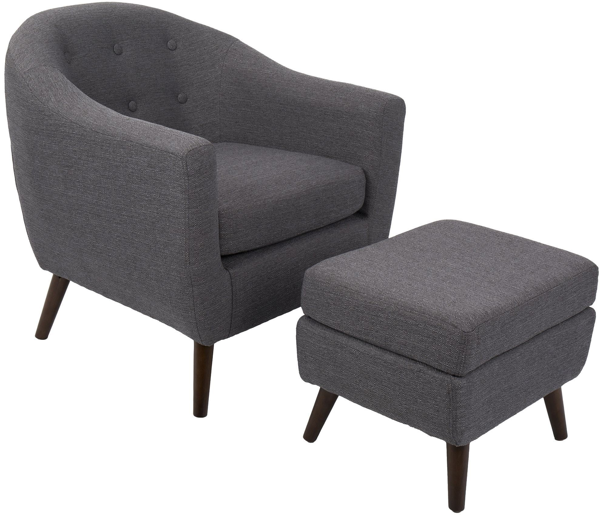 gray accent chair with ottoman soft bean bag chairs rockwell charcoal and from lumisource