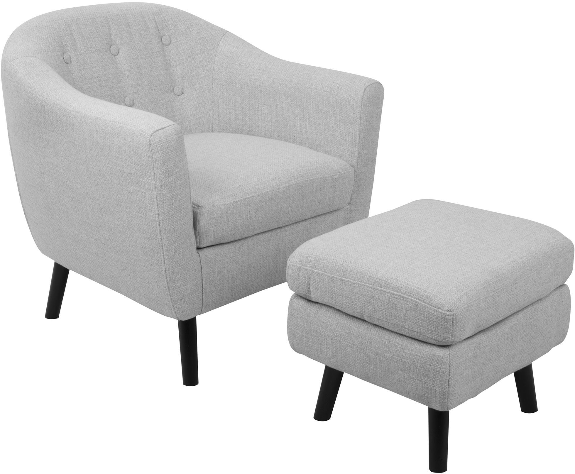 Light Gray Accent Chairs Rockwell Light Gray Accent Chair And Ottoman From