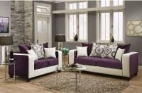 Riverstone Implosion Purple Velvet Living Room Set from ...