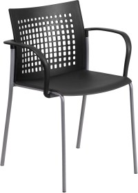 HERCULES Series Black Arm Stack Chair from Renegade ...