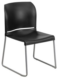 Hercules Series Black Full Back Contoured Stack Chair with ...