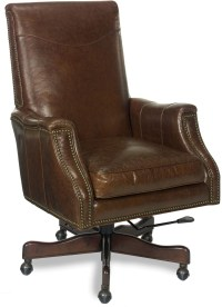Warren Brown Leather Desk Chair from Hooker | Coleman ...