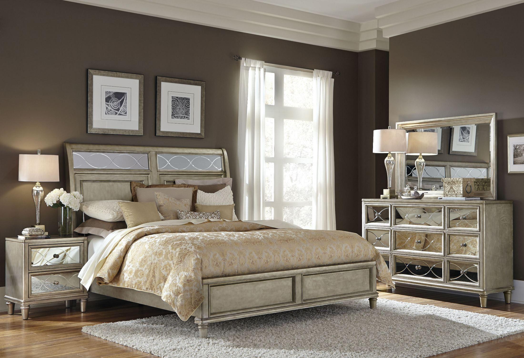 Cut Glass Silver Panel Bedroom Set S01425051400 Samuel Lawrence