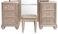 Dynasty Gold Metallic Vanity with Stool from Samuel ...