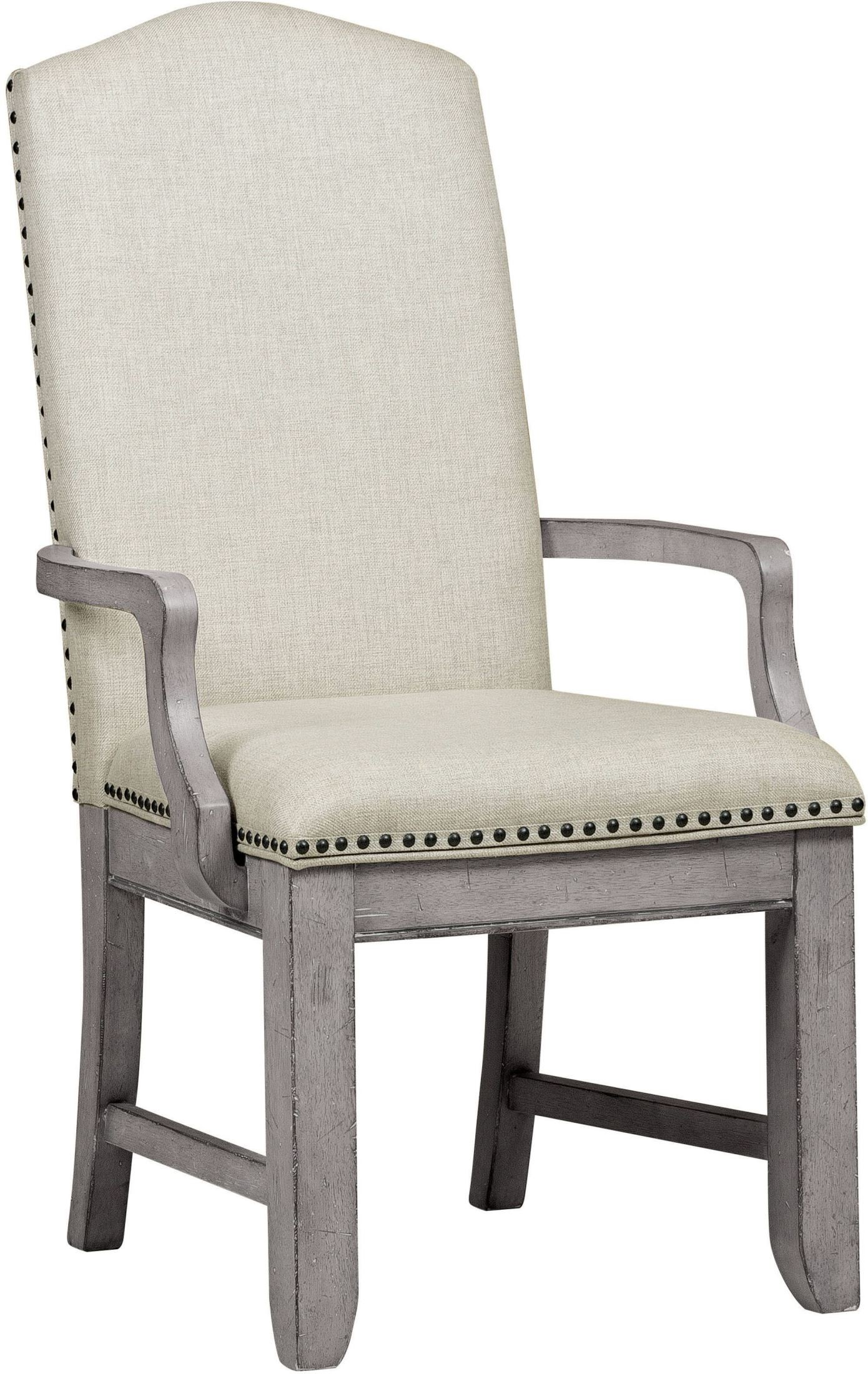 Grey Upholstered Chair Prospect Hill Gray Upholstered Arm Chair S082 157 Samuel