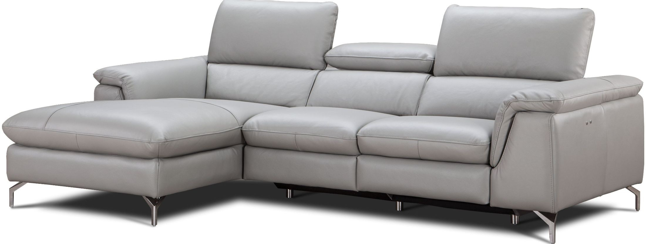 light gray leather reclining sofa high end sofas and loveseats serena premium power laf
