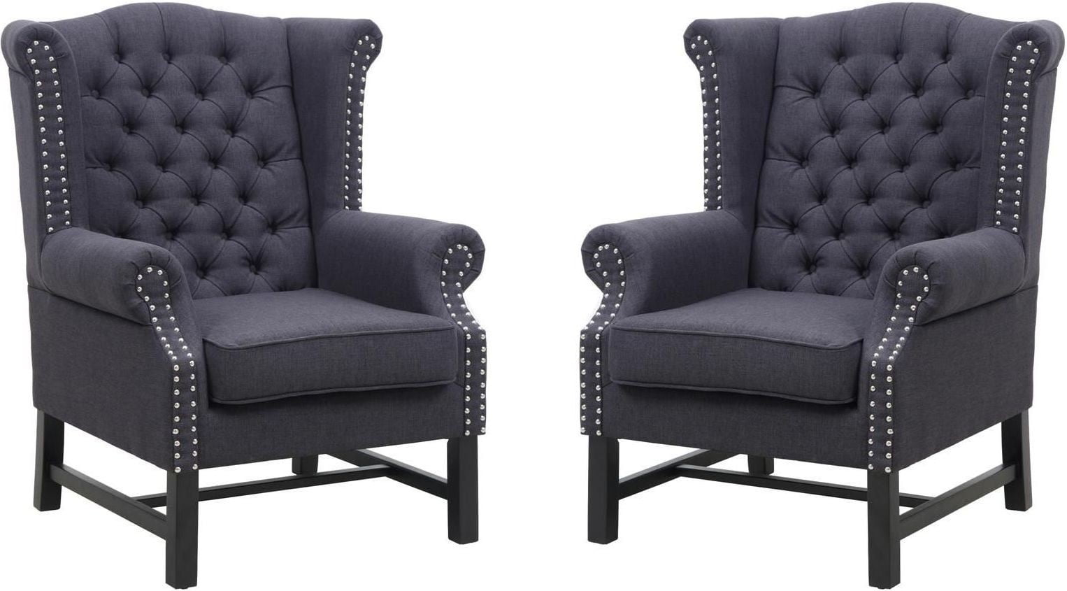 grey club chair high back go anywhere fairfield linen from tov 63102