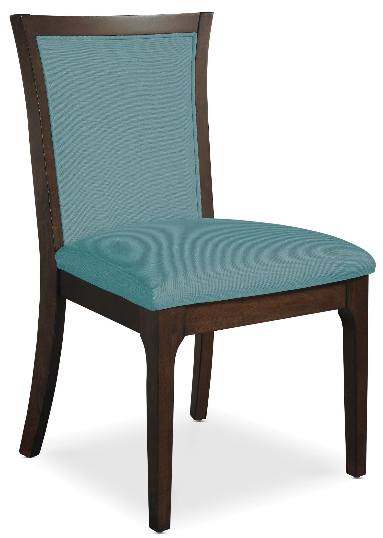 Teal Chair Improv In B Clear Brown And Maxi Teal Fabric Side Chair