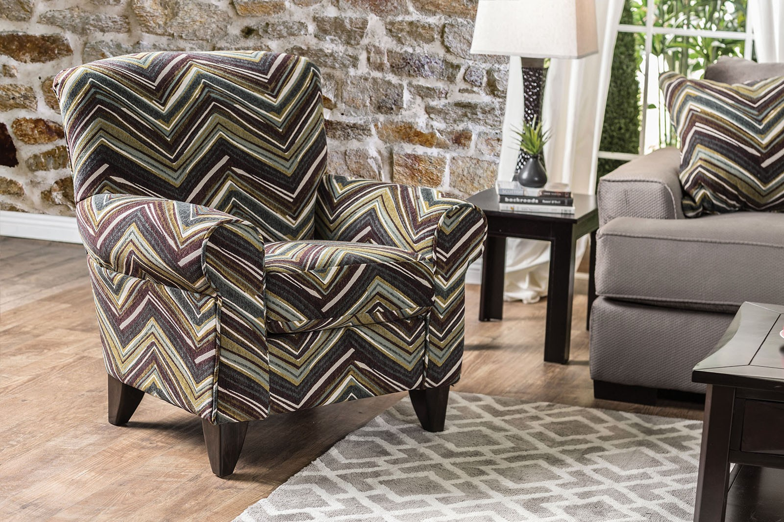 Pattern Chair Cashel Chevron Pattern Chair From Furniture Of America