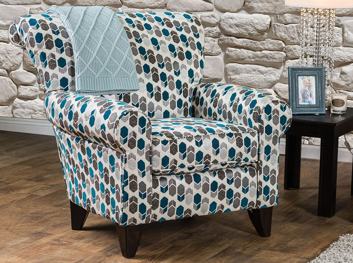 Pattern Chair Arklow Geometric Pattern Chair From Furniture Of America