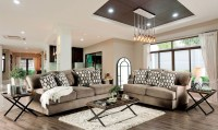 Glynis Tan Living Room Set from Furniture of America ...