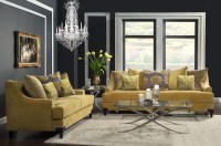 Viscontti Gold Living Room Set from Furniture of America ...