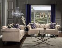 Antoinette Light Mocha Living Room Set from Furniture of ...