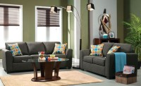 Playa Gray Fabric Living Room Set from Furniture of ...