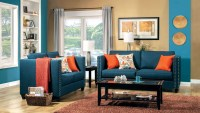 Turquoise Living Room Set