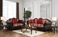 Wilford Burgundy Upholstered Living Room Set, SM6307-SF ...