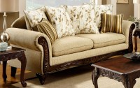 Doncaster Tan Fabric Sofa from Furniture of America ...