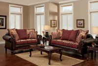 Ellis Brown and Burgundy Living Room Set from Furniture of ...