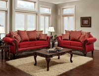 Marcus Red Living Room Set, SM7640-SF, Furniture of America