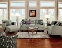 Coltrane Gray Fabric Living Room Set from Furniture of ...