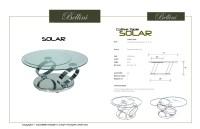 Solar Solar Swivel Glass Coffee Table from Bellini Modern