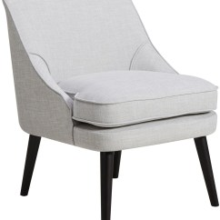 Grey And White Accent Chair Eames Molded Plywood Lounge Replica Upholstered From Pulaski Coleman Furniture