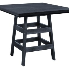 Black Square Pub Table And Chairs Pilates Wunda Chair Generation 42 Quot From Cr Plastic T13