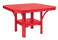 """St Tropez Red 45"""" Square Dining Table from CR Plastic (T35 ..."""