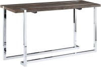 Kieran Charcoal & Chrome Rectangular Sofa Table from ...