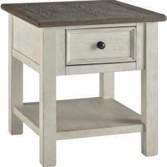 Gray Chair Side Table Beach Covers For Sale Bolanburg Antique White Weathered Rectangular End