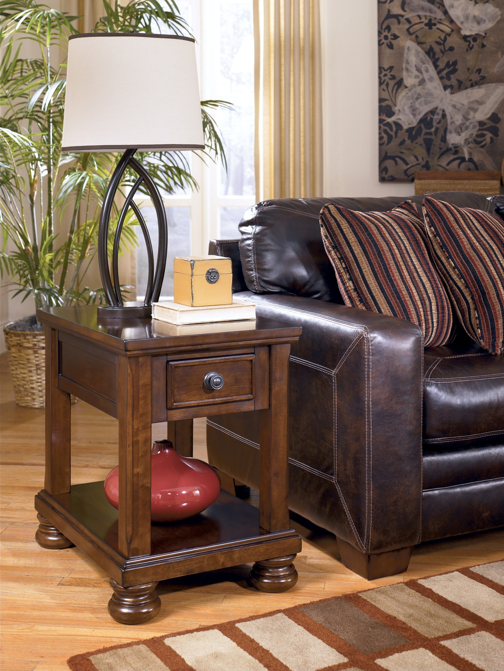 chair side end table mission chairs for sale porter chairside from ashley t697 3 coleman