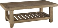 Trishley Weathered Gray Rectangular Cocktail Table, T859-1 ...