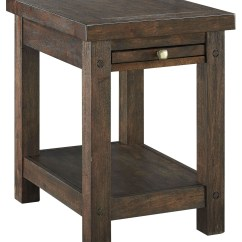Chair Side End Table Day Care High Chairs Windville Dark Brown Chairside T862 7 Ashley
