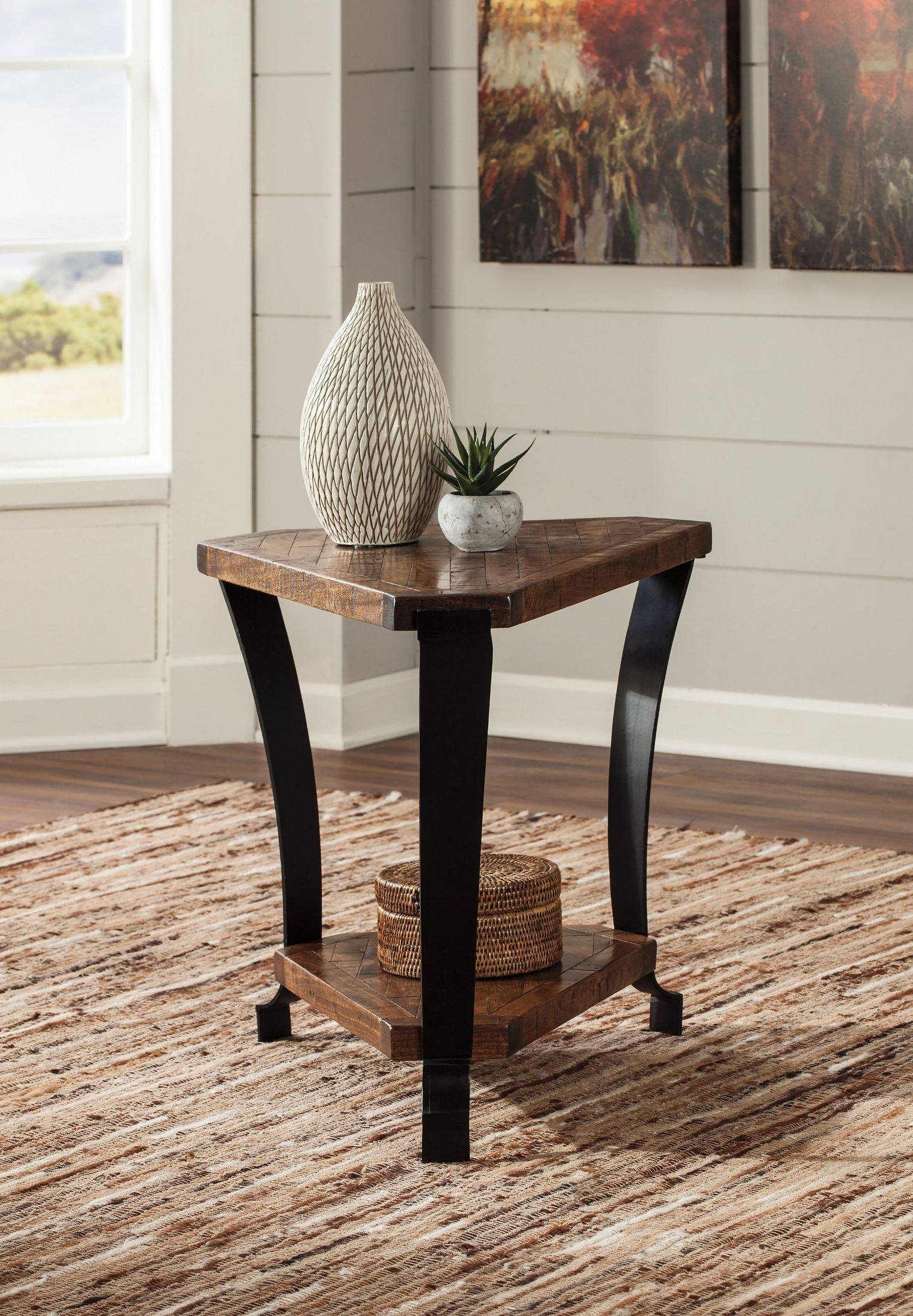 Chair Side Table Taddenfeld Medium Brown Chair Side End Table T928 7 Ashley